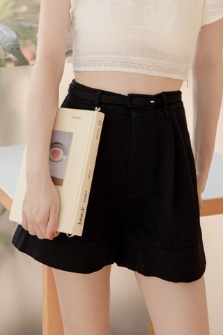 BUT MORE KR -5KG BELTED SHORTS IN BLACK
