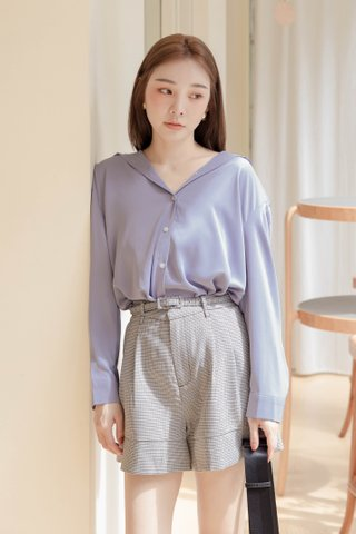 RAINIE KR BASIC COLLAR SHIRT IN BLUE (NG SALES)