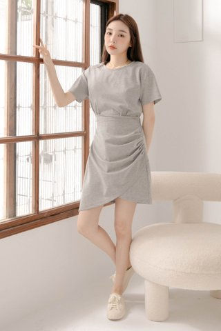 BUT LITTLE BUN KOREA -5KG ASYMMETRICAL DRESS IN GREY