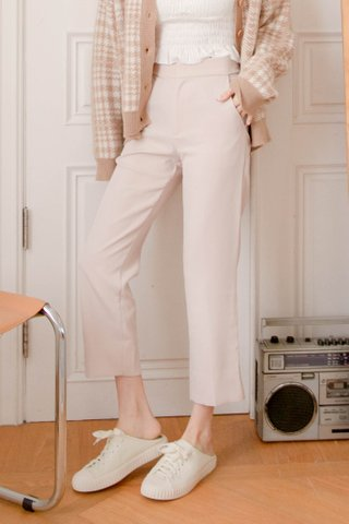 BAKE -5KG SPLIT HEM TAILORED PANTS IN BABY NUDE (NG SALES)
