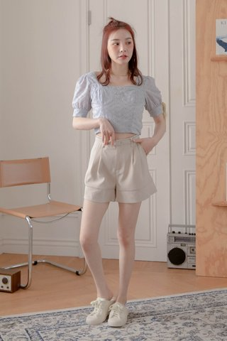 BUTTER TOAST KR EYELET FRENCH TOP IN BABY BLUE