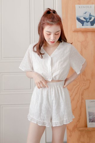 BUTTER BAKERY EYELET ROMPER IN WHITE