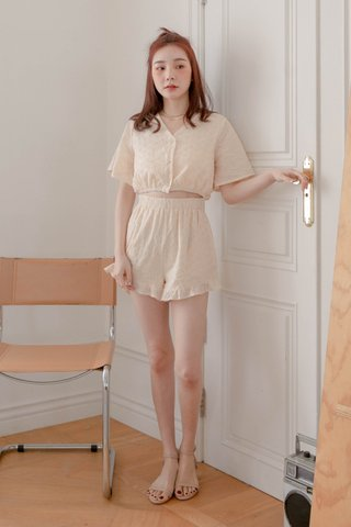 BUTTER BAKERY EYELET ROMPER IN HONEY BUTTER