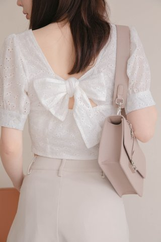 BUTTER TOAST KR EYELET FRENCH TOP IN WHITE