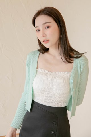 LITTLE DAY KOREA KNIT CARDIGAN IN MINT